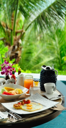 Breakfast in the Villa. Four Seasons Resort Koh Samui. © Travel+Style