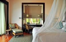 Villa Bedroom, Four Seasons Resort Koh Samui. © Travel+Style