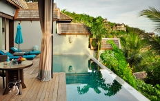 Villa Pool Deck, Four Seasons Resort Koh Samui.  © Travel+Style
