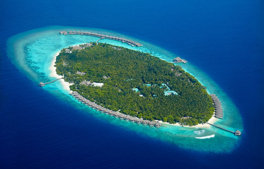 Aerial view.  Dusit Thani Maldives. ©  Dusit International
