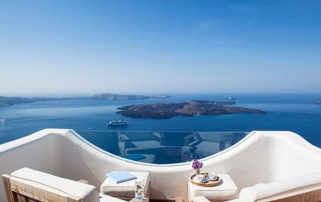 Native Eco Villa in Santorini, Greece. © Native Eco Villa. TravelPlusStyle.com