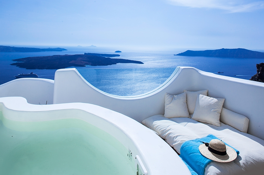 Native Eco Villa in Santorini, Greece. © Native Eco Villa. TravelPlusStyle.com