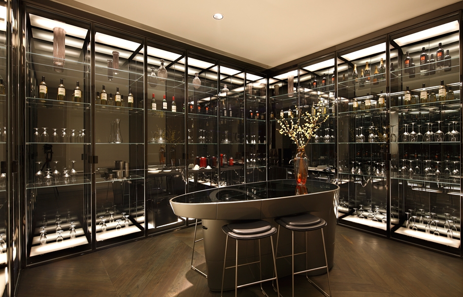 Prosperity Suite wine cellar. The Swatch Art Peace Hotel, Shanghai. © The Swatch Group Ltd