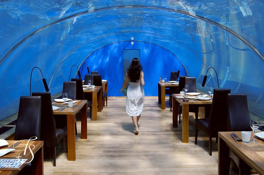 Ithaa Undersea Restaurant, Conrad Maldives Rangali Islandi. © Travel+Style