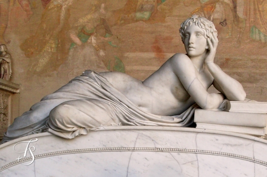Pisa Campo Santo, detail from Tomb of Ottaviano Fabrizio Mossotti © Travel+Style