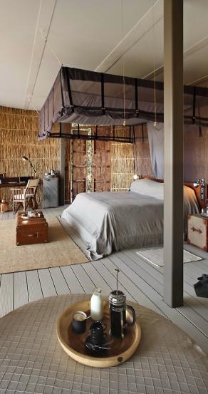 Bedroom. Chinzombo Camp, Zambia. travelplusstyle.com