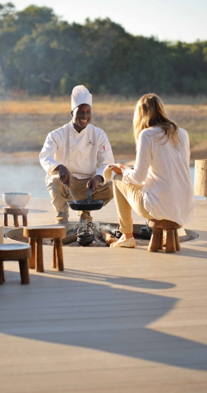 Breakfast. Chinzombo Camp, Zambia. travelplusstyle.com