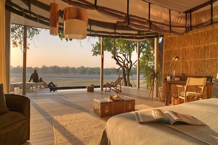 Early morning view. Chinzombo Camp, Zambia. travelplusstyle.com