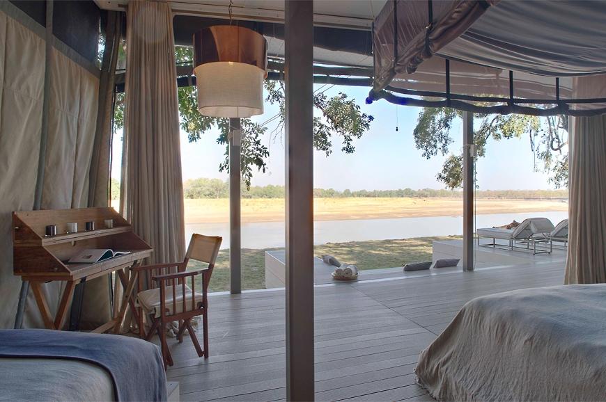 Villa. Chinzombo Camp, Zambia. travelplusstyle.com