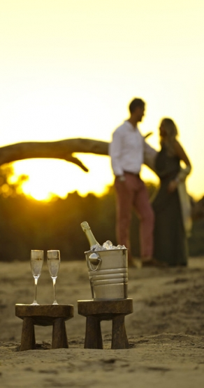 Sundowners. Chinzombo Camp, Zambia. travelplusstyle.com