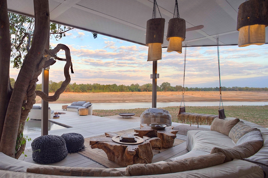 Views of the river. Chinzombo Camp, Zambia. travelplusstyle.com