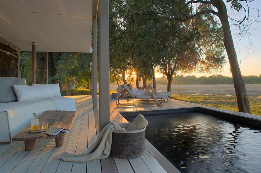 Views over your private pool. Chinzombo Camp, Zambia. travelplusstyle.com