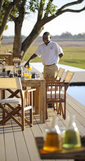 Breakfast. Chinzombo Camp, Zambia. travelplusstyle.com