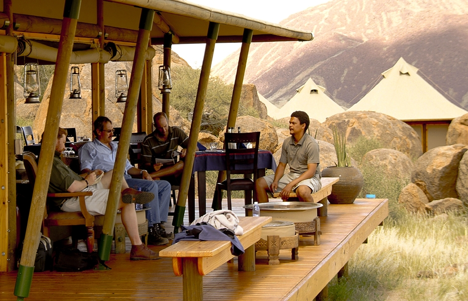 Camp life. Wolwedans Boulders Camp, Namibia. © Wolwedans