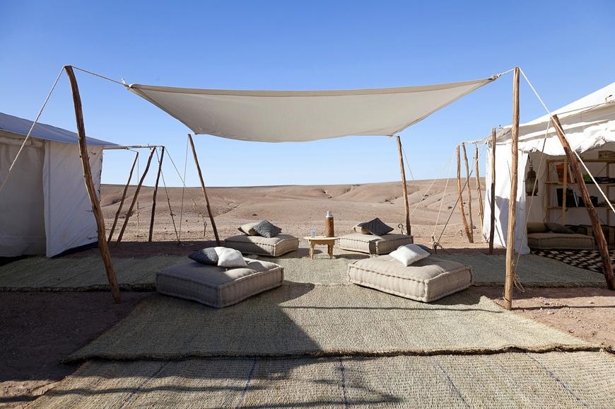 Scarabeo Camp - Agafay desert, Morocco. © Scarabeo Camp