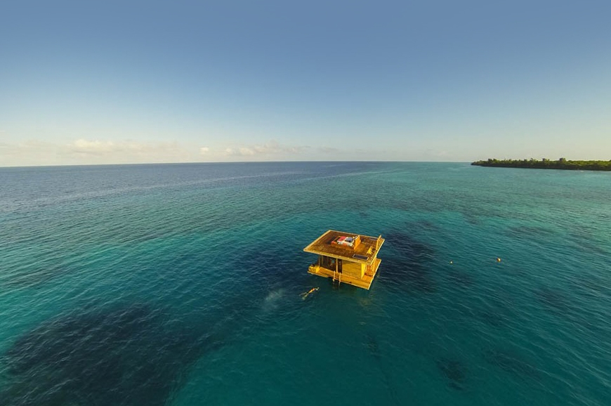 The Manta Resort- Underwater Room Off Pemba Island, Tanzania. travelplusstyle.com
