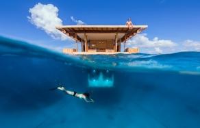 The Manta Resort- Underwater Room Off Pemba Island, Tanzania. travelplusstyle.com