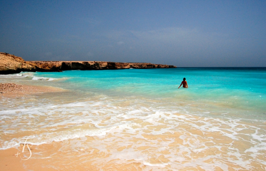 Tiwi White Beach, Oman. © Travel+Style