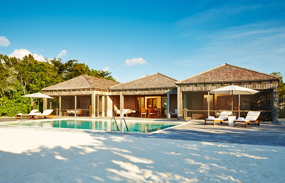 Villa Exterior. Parrot Cay by COMO, Turks & Caicos. © COMO Hotels and Resorts