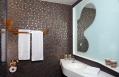 Goldroom Bathroom. 25hours Hotel Zurich West, Switzerland. © 25hours Hotels