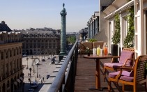 Vendôme Suite balcony. Park Hyatt Paris-Vendome, Paris, France. © Hyatt Corporation