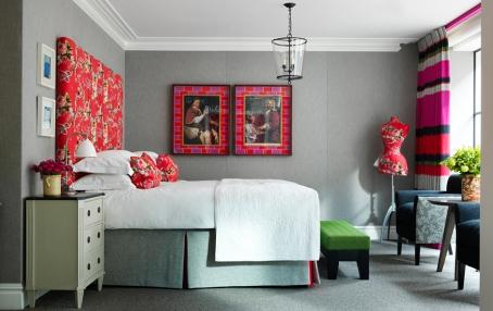 Deluxe Junior Suite. Ham Yard Hotel London. © Firmdale Hotels