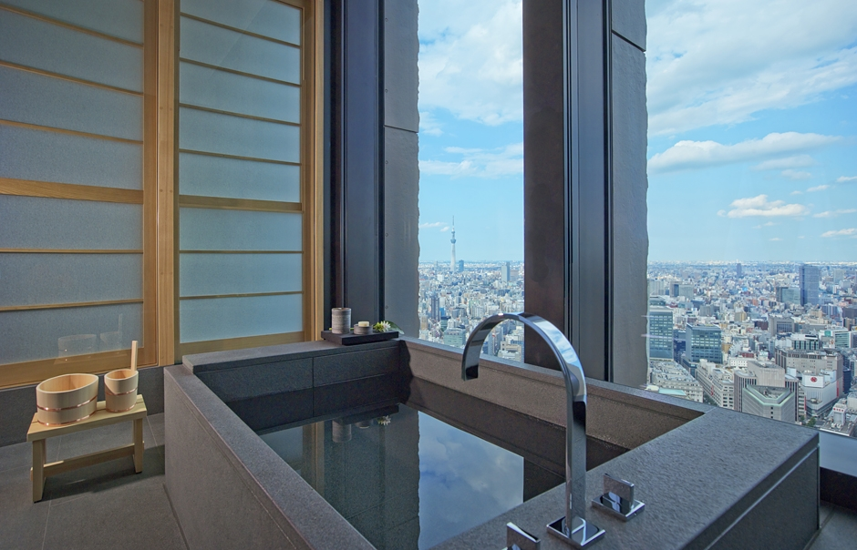 Aman Tokyo - Aman Suite Bathroom. TravelPlusStyle.com