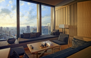 Aman Tokyo - Premier Room Living Area. TravelPlusStyle.com