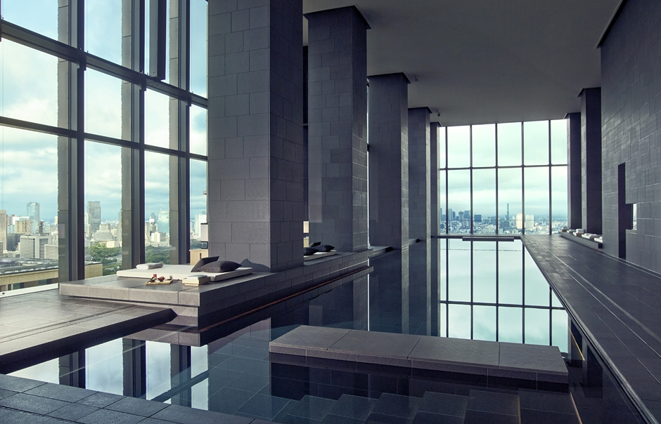 Aman Tokyo - Swimming Pool. TravelPlusStyle.com
