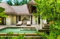 Beach Villa. COMO Maalifushi, Maldives. Hotel Review by TravelPlusStyle. Photo © COMO Hotels & Resorts