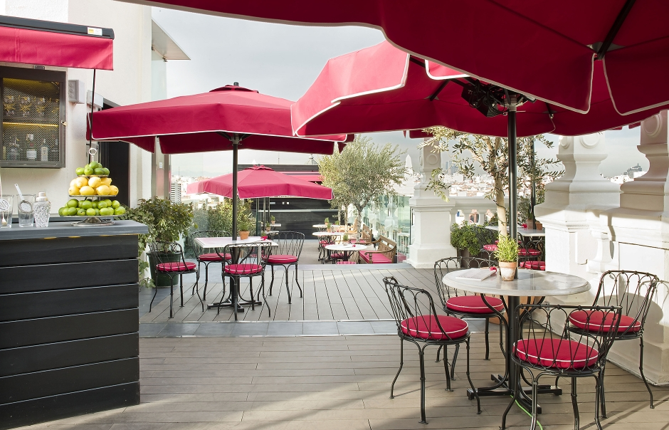 La Terraza. The Principal Madrid, Spain. Hotel Review by TravelPlusStyle. Photo © The Principal Madrid