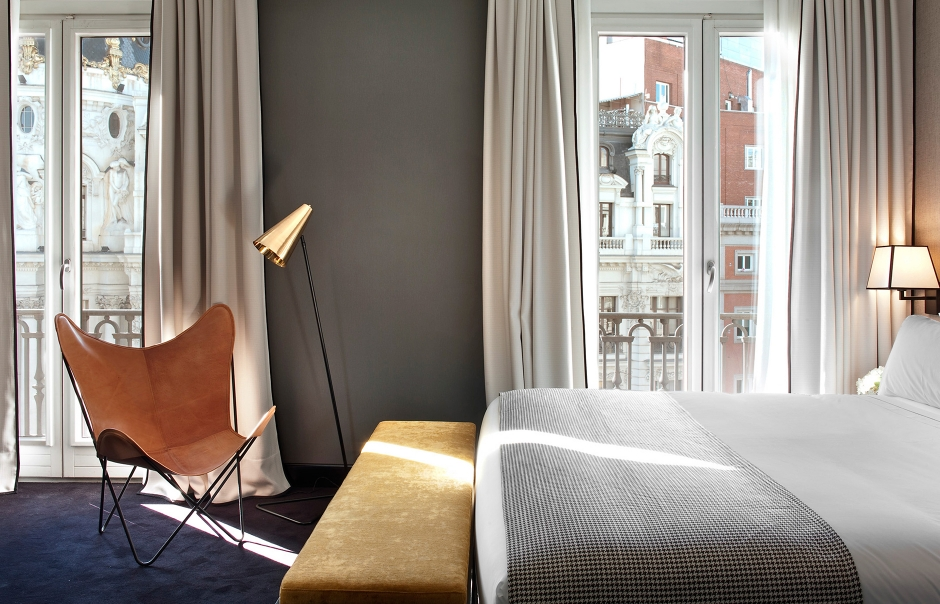 Deluxe Room. The Principal Madrid, Spain. Hotel Review by TravelPlusStyle. Photo © The Principal Madrid