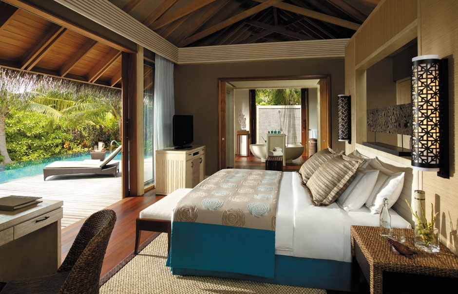 Beach Villa. Shangri-La's Villingili Resort and Spa. © Shangri-La Hotels and Resorts