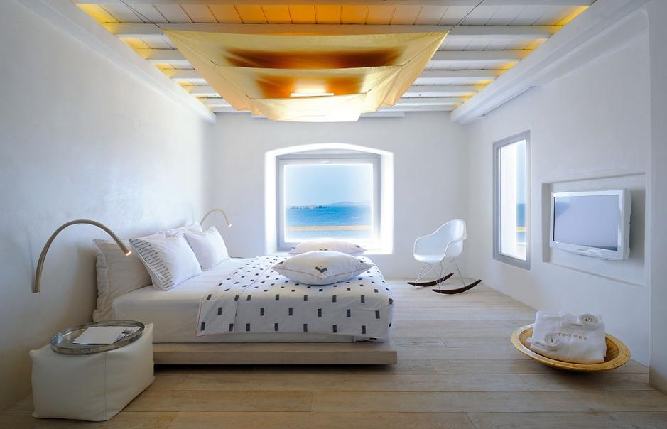 Two-bedroom Golden Villa. Cavo Tagoo Hotel. Mykonos, Greece. © Cavo Tagoo