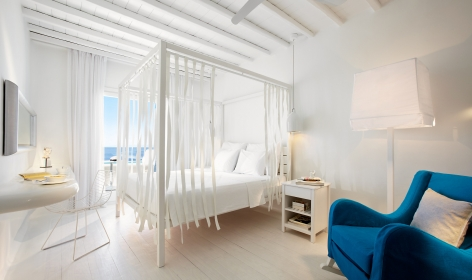 Deluxe Room With Pool. Cavo Tagoo Hotel. Mykonos, Greece. © Cavo Tagoo