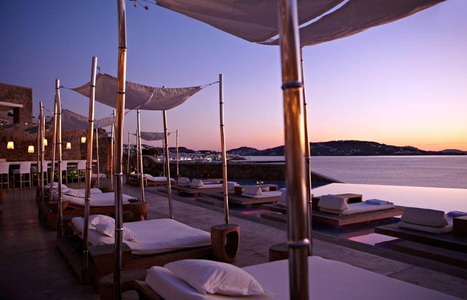 Cavo Tagoo Pool Lounge. Cavo Tagoo Hotel. Mykonos, Greece. © Cavo Tagoo