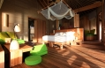 Water Villa interior. Six Senses Laamu, Maldives. © Six Senses Resorts & Spas