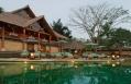 Restaurant & Pool. Amandari, Bali, Indonesia. © Amanresorts