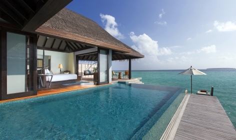 Over-Water Pool Villa. Anantara Kihavah Villas, Maldives, © Anantara Hotels