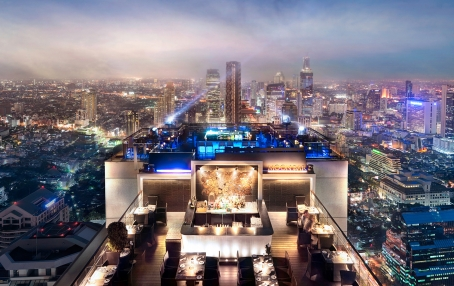 Moon Bar. Banyan Tree Bangkok, Thailand. Hotel Review by TravelPlusStyle. Photo © Banyan Tree Hotels & Resorts