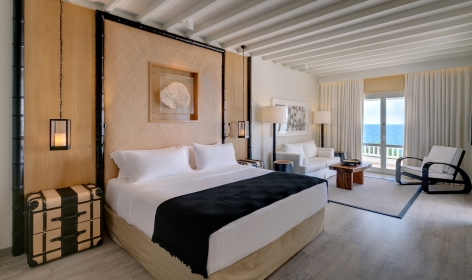 Top 15 Chic Luxury Hotels in Mykonos. Santa Marina. TravelPlusStyle.com