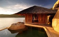 Living Room, Water Villa 3. Six Senses Ninh Van Bay, Vietnam. © TravelPlusStyle.com