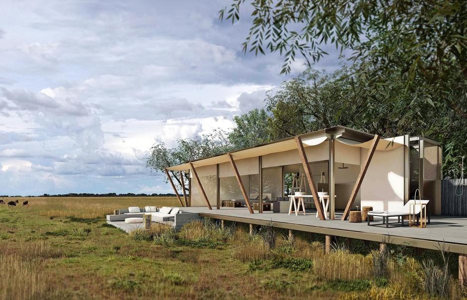 King Lewanika Lodge, Liuwa Plain National Park, Zambia. TravelPlusStyle.com