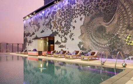 Pool. W Hong Kong. © Starwood Hotels & Resorts Worldwide