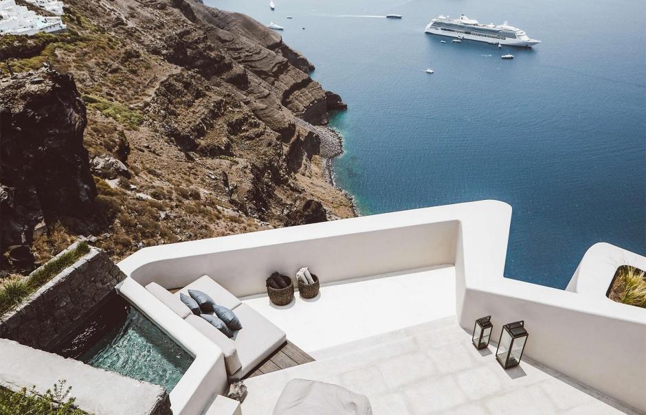 Vora Villas Santorini, Greece. Hotel Review by TravelPlusStyle. Photo © VORA