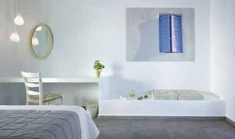 Santa Maria Luxury Suites, Adamas. Milos, Greece. Travelplusstyle.com