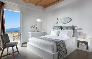 Lithos Luxury Rooms, Adamas. Milos, Greece. Travelplusstyle.com