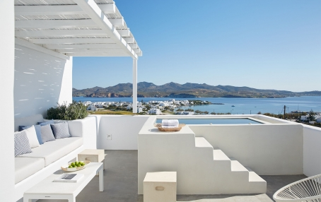 The ultimate guide of the best chic hotels in Milos, Greece. Travelplusstyle.com