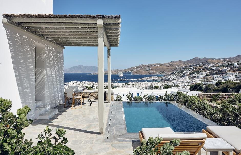 Belvedere Mykonos, Greece. Hotel Review by TravelPlusStyle. Photo © Belvedere Mykonos