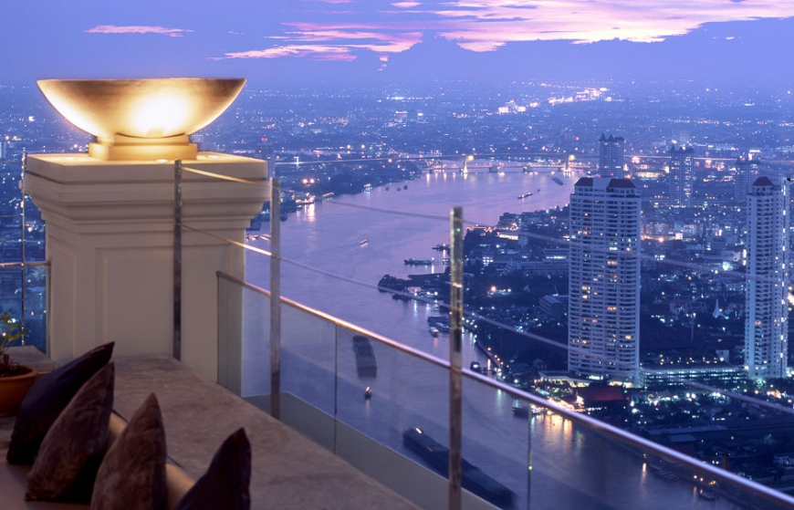 View from Sky Bar, Lebua at State Tower. © Lebua